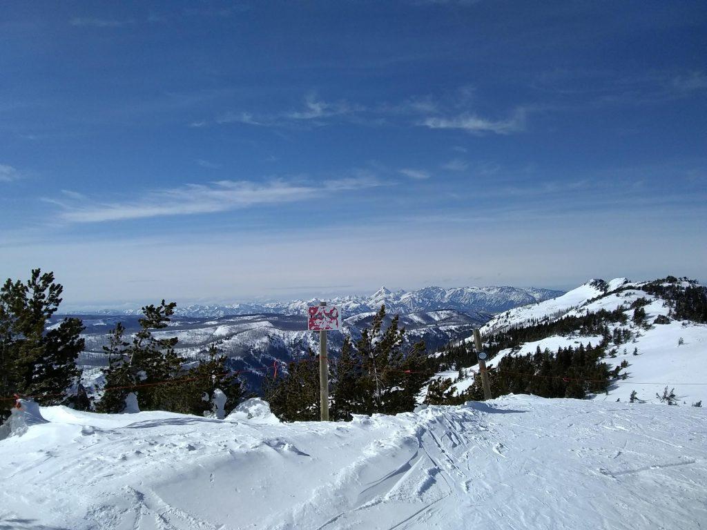 Mountains at a ski resort