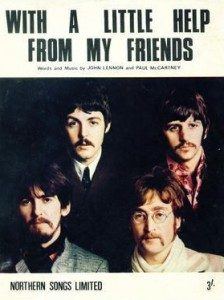 Beatles With a little help from my friends album cover